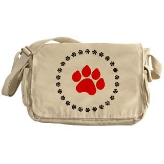 Red Paw Print Messenger Bag for $37.50