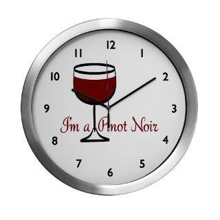 Pinot Noir Wine Drinker Modern Wall Clock for $42.50