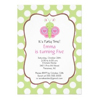 Butterfly Birthday Party Invitation invitations by celebrateitinvites