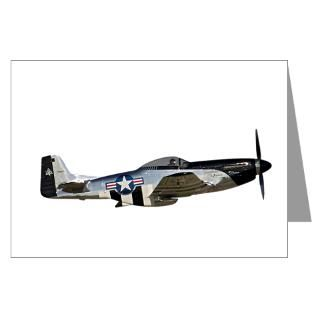 Air Force Greeting Cards  P 51 Mustang Greeting Cards (Pk of 20