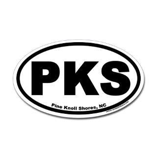 pine knoll shores nc euro oval car sticker $ 4 49