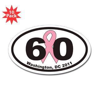 60 Washington, DC Sticker (Oval 10 pk)