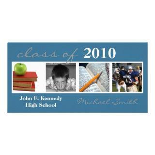 Class Of 2010 Invitiation/Announcement Quad Photo Personalized Photo
