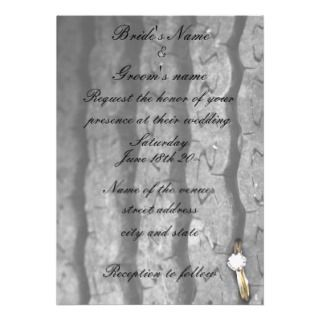 Ring on Barbed Wire Wedding Invitation