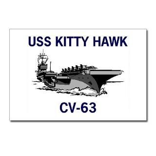 USS KITTY HAWK Postcards (Package of 8) for $9.50
