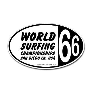 World Surfing Championship 66 Oval Sticker  Classic Surf Stickers