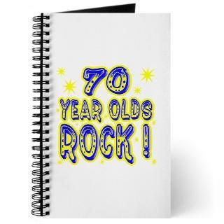 70 Year Olds Rock Journal for $12.50