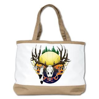 deer skull with eagle feather beach bag $ 76 99