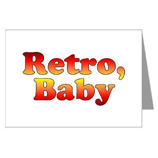 Retro Baby Vintage 80s Styl Greeting Cards (Pack