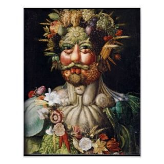 Giuseppe Arcimboldo Vertumnus Vegetable Man Poster posters by