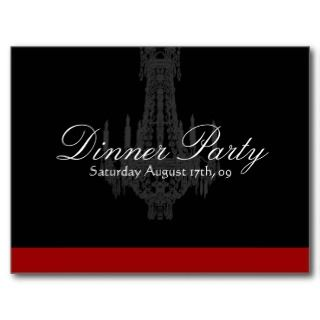 Dinner Party Invitation Postcards
