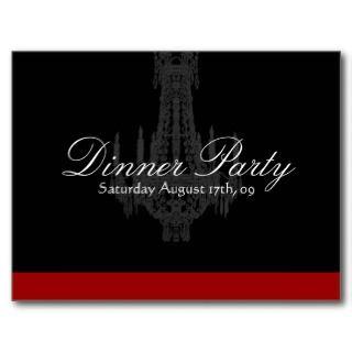 Dinner Party Invitation Postcards