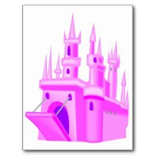 Pink Fairytale Wedding Castle Post Cards