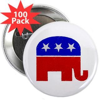 Gifts  Buttons  100 GOP Elephant buttons