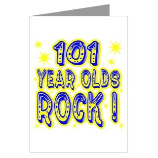 101 Year Olds Rock Greeting Cards (Pk of 10)