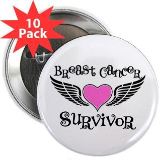 Breast Cancer Survivor Wings Heart T Shirts  Shirts 4 Cancer