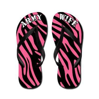 Army Wife Gifts  Army Wife Flip Flops  Zebra Army Wife Flip Flops