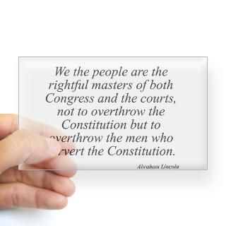 Abraham Lincoln quote 115 Rectangle Decal for $4.25