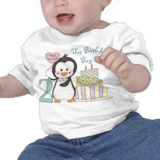 Penguin Cutie   Boy Second Birthday T shirt