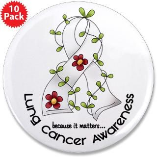 Flower Ribbon LUNG CANCER  Awareness Gift Boutique