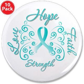 Cervical Cancer Butterfly Deco Ribbon Gifts  Gifts 4 Awareness Shirts