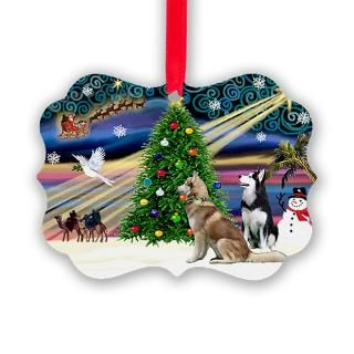 Siberian Husky Christmas Christmas Ornaments  Unique Designs