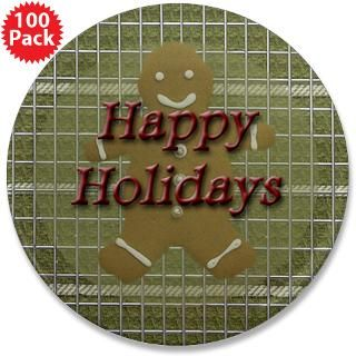 happy holidays gingerbread 3 5 button 100 pack $ 147 99
