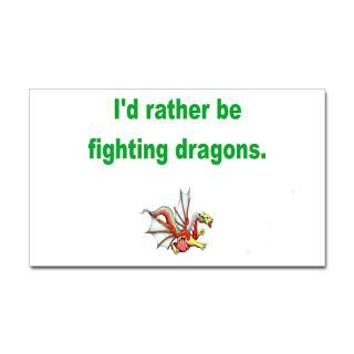 rather be fighting dragons  Funny Animal T Shirts