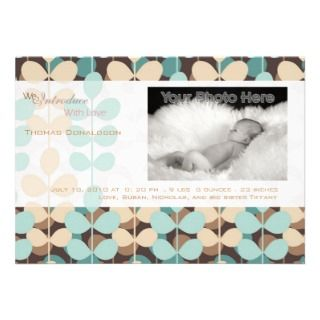 Green ivy baby boy birth announcement