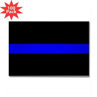 The Thin Blue Line Rectangle Magnet (100 pack)