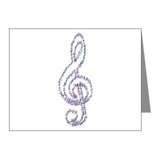 Treble Clef Thank You Note Cards