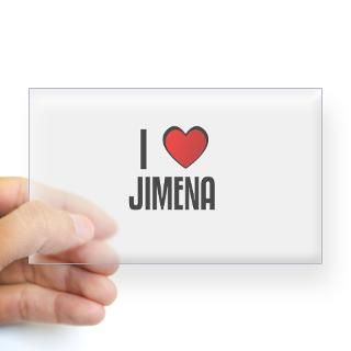 Love Jimena Stickers  Car Bumper Stickers, Decals