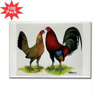 red gamefowl pair rectangle magnet 100 pack $ 154 99