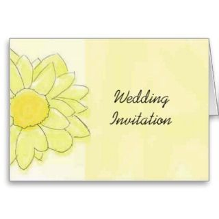 beautiful personalised wedding invitation card our Yellow Daisy