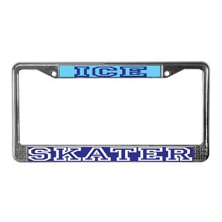 Ice Skater License Plate Frame  Buy Ice Skater Car License Plate
