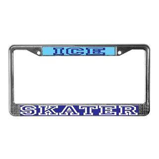 Ice Skater License Plate Frame  Buy Ice Skater Car License Plate
