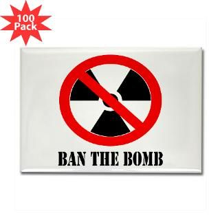 ban the bomb rectangle magnet 100 pack $ 189 99