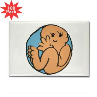 baby in belly rectangle magnet 100 pack $ 189 99