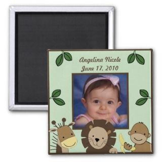 Jungle Baby Animals Zoo Photo Frame Magnet So Cute