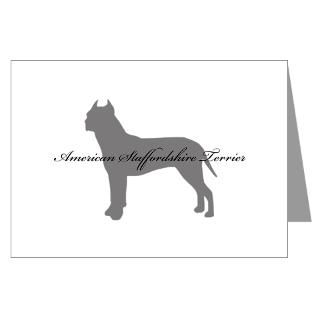 American Staffordshire Terrier Greeting Cards  Buy American