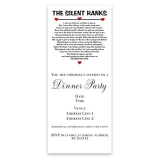 The Silent Ranks Poem Invitations by Admin_CP1461405  506932091
