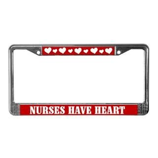 Nurses Have Heart License Plate Frame  NURSE, Police Officer