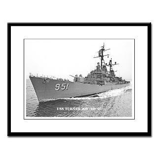 USS TURNER JOY Large Framed Print  THE USS TURNER JOY (DD 951) STORE