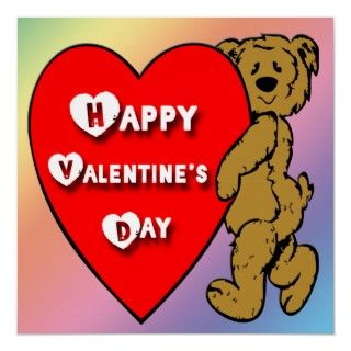 Valentines Teddy Bear Poster