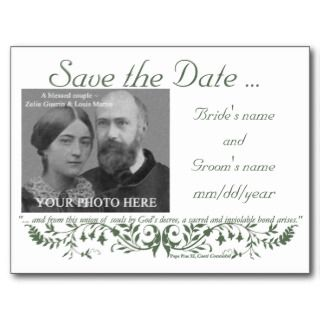 Catholic Wedding Set Save the Date Template CC postcards by caritas