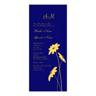 Yellow and Blue Wildflowers Wedding Invitation