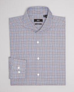 BOSS Black Dwayne Houndstooth Glen Plaid Dress Shirt   Slim Fit