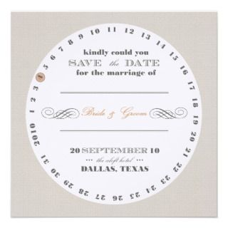 Coaster Save te Date Personalized Invitations