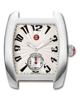 Michele Urban Mini Stainless Steel Watch Head, 29 mm x 35 mm