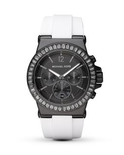 Michael Kors Round Black & White Watch, 43mm